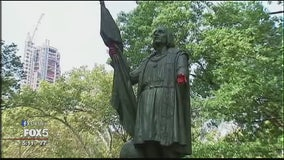 Columbus statue vandalized