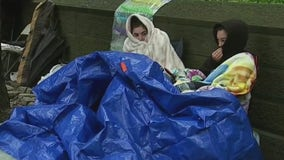 BTS fans camp out in the rain