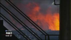 Massive fire causes LIRR problems
