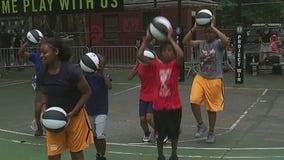 Brooklyn Nets give away basketballs