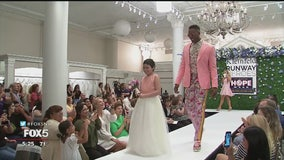 Young cancer patients hit the catwalk with the New York Yankees