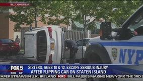 Girls, 10, 12, flip parents' car in joyride: Cops
