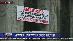 Lead protesters descend on Newark