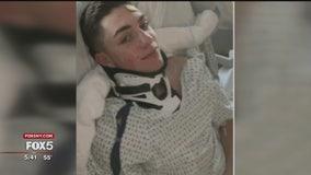 Paralyzed teen walks again