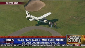 Small plane makes emergency landing on golf course