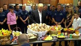 Trump visits Coast Guard station