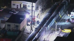 LIRR trains collide with truck