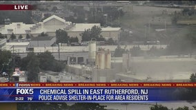 Chemical spill in East Rutherford