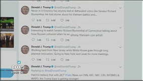 Trump slams senator on Twitter