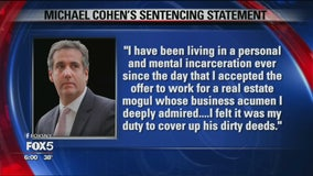 Michael Cohen sentenced to prison