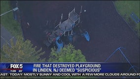 Fire destroys NJ playground