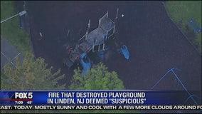 Fire destroys NJ playground