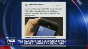 Facebook seeking financial data?