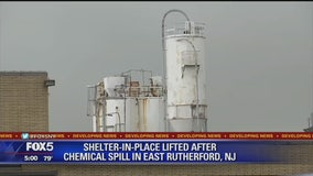 """""""Shelter-in-place"""" order lifted after chemical spill in East Ruthford"""
