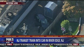 2 seriously injured when car, train collide in NJ