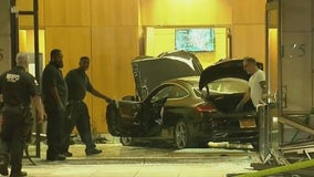Car smashes into lobby of Trump Plaza New Rochelle