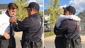 Video: Utah police officer teaches teen how to tie a tie