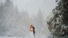 Surprise snowstorm takes over Arizona couple's fall wedding in Washington
