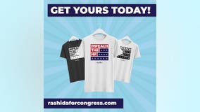 "Rashida Tlaib now selling ""Impeach the MF"" t-shirts"