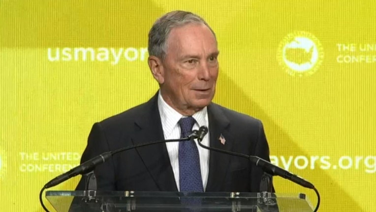 Mike Bloomberg speaks at an event