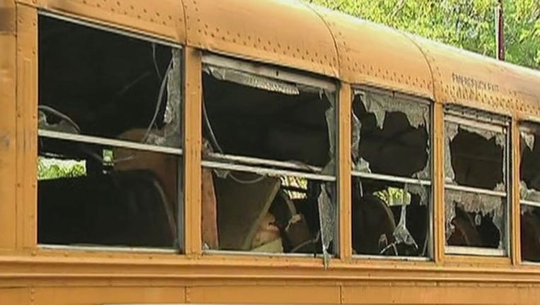 5 boys set fire to Jewish school bus say cops