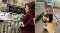 Mom shares heartwarming video of 23-month-old son walking days after intensive skull surgery