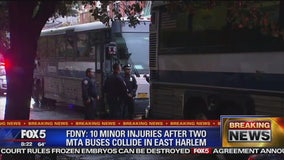 2 MTA buses collide injuring 10 people