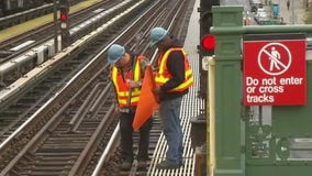 MTA inspecting elevated subway tracks