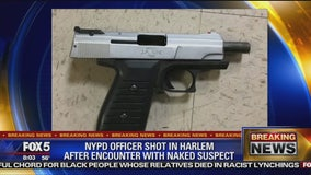 Cop shot during wild struggle with naked man in Harlem