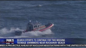 Search resumes for missing swimmers