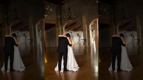 Daughters 'pre-create' wedding dance with terminally ill father in moving photo shoot