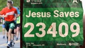 Minnesota runner with 'Jesus Saves' bib saved by nurse named Jesus after collapsing during race