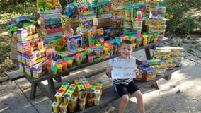 Pediatric cancer survivor donates thousands of toys to hospital to celebrate birthday