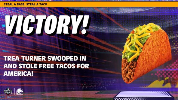 Base stolen in World Series earns fans free tacos