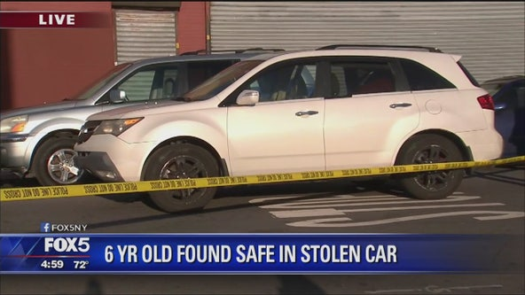 SUV stolen with child inside
