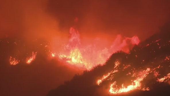 1 confirmed fatality as Saddleridge fire tears path of destruction across the northern San Fernando Valley