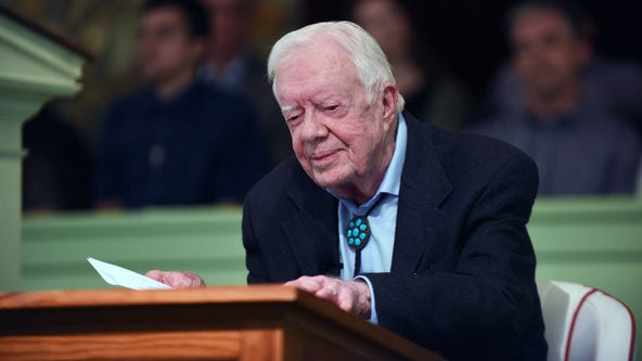Jimmy Carter hospitalized with pelvic fracture after fall at Georgia home