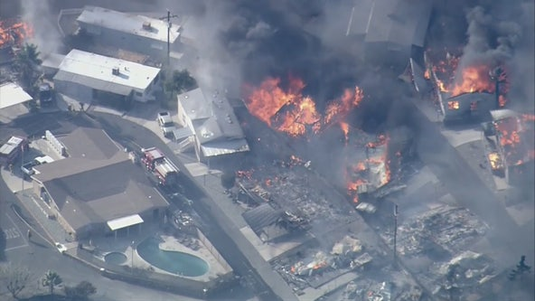 One dead, several structures destroyed as Sandalwood Fire burns 1,011 acres in Calimesa