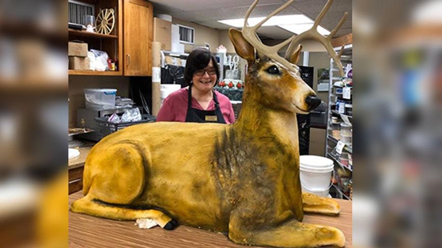 Pa. baker creates amazing life-sized deer cake for wedding