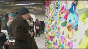 NYPD tickets artist behind 'subway therapy' installation