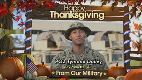 Holiday troop greeting from Petty Officer Tymond Dailey