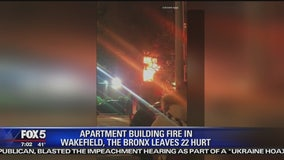 14 NYPD officers, 8 civilians injured in Bronx apartment fire