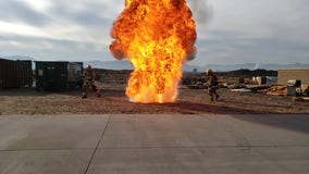 'How NOT to fry a turkey': Firefighters demonstrate dangers of deep-frying your Thanksgiving bird