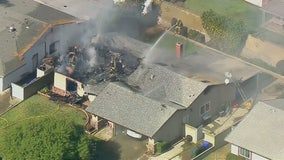Pilot dies when single-engine plane crashes into home in Upland