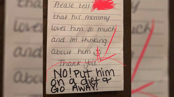 Mom finds note from day care worker in son's lunchbox: 'Put him on a diet and go away!'