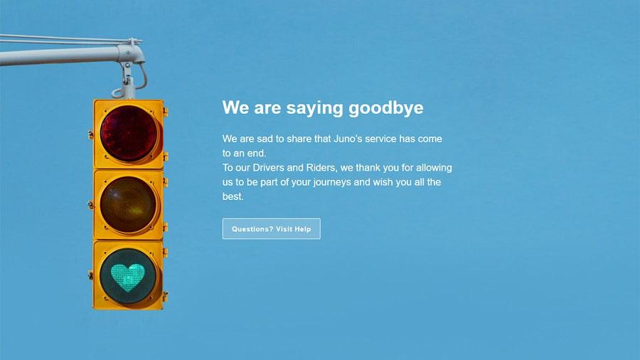 Ride-hail app Juno shuts down
