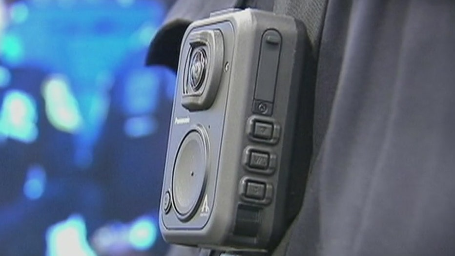 A body camera worn by cops