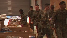 Marines fill warehouse with toys donated for kids in need