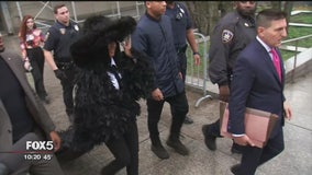 Cardi B in court in style for strip club fight case
