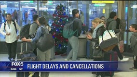 Winter storm causes flight delays and cancellations across region